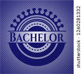 bachelor jean or denim emblem... | Shutterstock .eps vector #1260281332