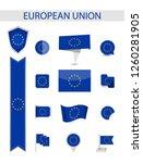 european union flag collection. ... | Shutterstock .eps vector #1260281905