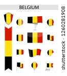 belgium flag collection. flat... | Shutterstock .eps vector #1260281908