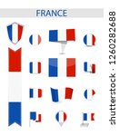 france flat flag collection.... | Shutterstock .eps vector #1260282688