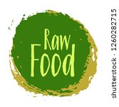 raw food diet label  green... | Shutterstock .eps vector #1260282715