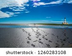 Wadden Sea With Lighthouse