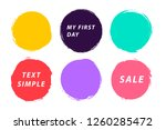 grunge circle abstract logo on...   Shutterstock .eps vector #1260285472
