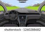 vehicle salon  inside car...   Shutterstock . vector #1260288682