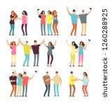 neighbors men and women... | Shutterstock . vector #1260288925
