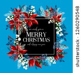 merry christmas greeting card... | Shutterstock .eps vector #1260290548