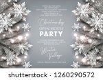 christmas party invitation... | Shutterstock .eps vector #1260290572