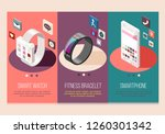 portable electronics smart... | Shutterstock .eps vector #1260301342