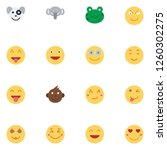 emoji  emoticons  face... | Shutterstock .eps vector #1260302275