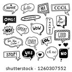 speech bubbles drawn by hand  ... | Shutterstock .eps vector #1260307552