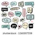 speech bubbles drawn by hand  ... | Shutterstock .eps vector #1260307558