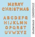 christmas gingerbread cookies   ... | Shutterstock . vector #1260324112