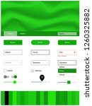 light green vector ui ux kit...
