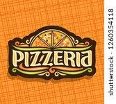 logo for italian pizzeria  dark ... | Shutterstock . vector #1260354118