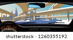 view from inside the car on the ...   Shutterstock .eps vector #1260355192