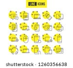 mobile devices line icons. set... | Shutterstock .eps vector #1260356638