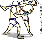 thai boxing collection | Shutterstock .eps vector #126035822
