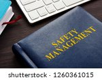 safety management book and... | Shutterstock . vector #1260361015