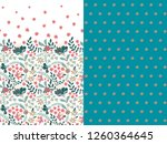 set of two horizontal seamless... | Shutterstock .eps vector #1260364645