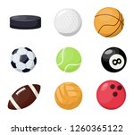 sport balls on white background.... | Shutterstock .eps vector #1260365122