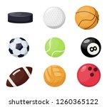 sport balls on white background.... | Shutterstock .eps vector #1260365122
