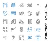 way icons set. collection of... | Shutterstock .eps vector #1260373762
