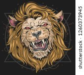 the head of a lion with a very...   Shutterstock .eps vector #1260373945