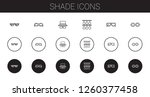shade icons set. collection of... | Shutterstock .eps vector #1260377458