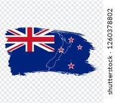 flag new zealand from brush... | Shutterstock .eps vector #1260378802
