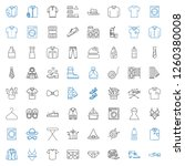 clothing icons set. collection... | Shutterstock .eps vector #1260380008