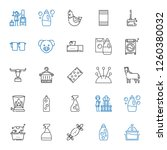 domestic icons set. collection... | Shutterstock .eps vector #1260380032