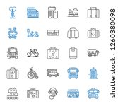 tour icons set. collection of... | Shutterstock .eps vector #1260380098