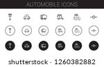 automobile icons set.... | Shutterstock .eps vector #1260382882