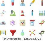 Color Flat Icon Set Fertilizer...