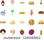 color flat icon set ketchup... | Shutterstock .eps vector #1260383812