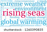 rising seas word cloud on a... | Shutterstock .eps vector #1260390835