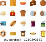 color flat icon set cake flat... | Shutterstock .eps vector #1260393592