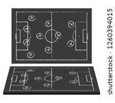 football field. blackboard.... | Shutterstock .eps vector #1260394015