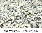 one hundred dollars pile as... | Shutterstock . vector #126039806