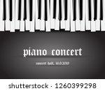 beautiful monochrome piano... | Shutterstock .eps vector #1260399298