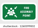 fire assembly point icon | Shutterstock .eps vector #1260399832