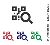 barcode scanner icon qr code... | Shutterstock .eps vector #1260410218