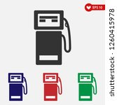 gas station icon..gasoline pump ... | Shutterstock .eps vector #1260415978