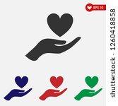heart icon vector.heart in hand ... | Shutterstock .eps vector #1260418858