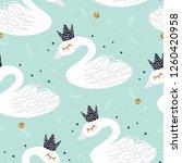seamless nursery pattern with... | Shutterstock .eps vector #1260420958