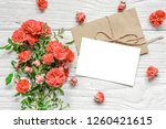 blank greeting card with...   Shutterstock . vector #1260421615