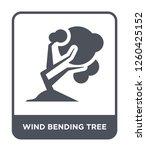 wind bending tree icon vector...   Shutterstock .eps vector #1260425152