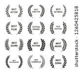 film awards. set of black and...   Shutterstock .eps vector #1260425818