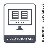 video tutorials icon vector on... | Shutterstock .eps vector #1260428338