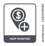map pointer icon vector on... | Shutterstock .eps vector #1260428482